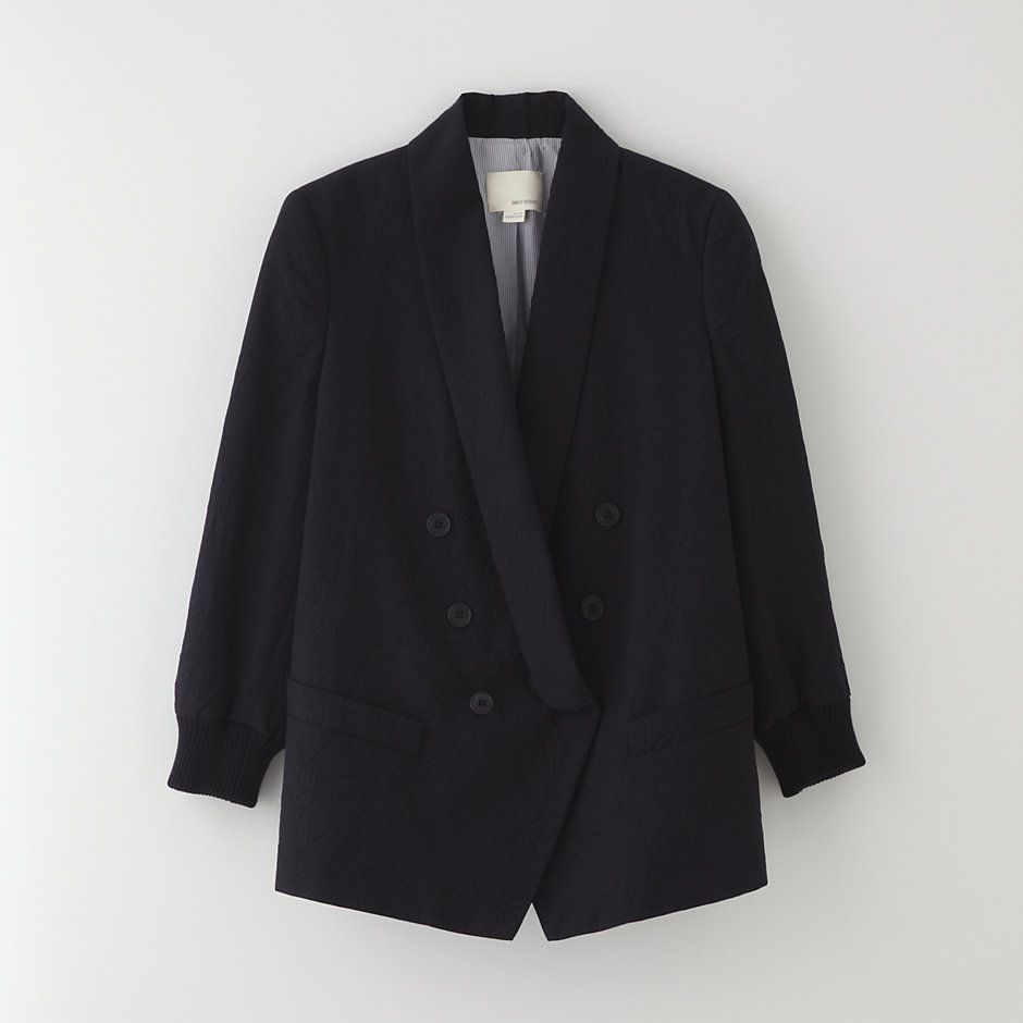 DOUBLE BREASTED SHAWL COLLAR JACKET