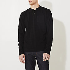 CROPPED COLLAR LONG SLEEVE POLO