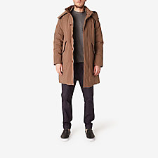 MOCHA WASHED NYLON DOWN COAT