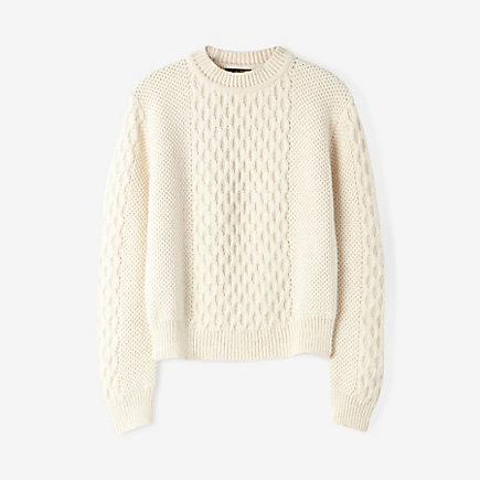 CABLE KNIT ALPACA SWEATER