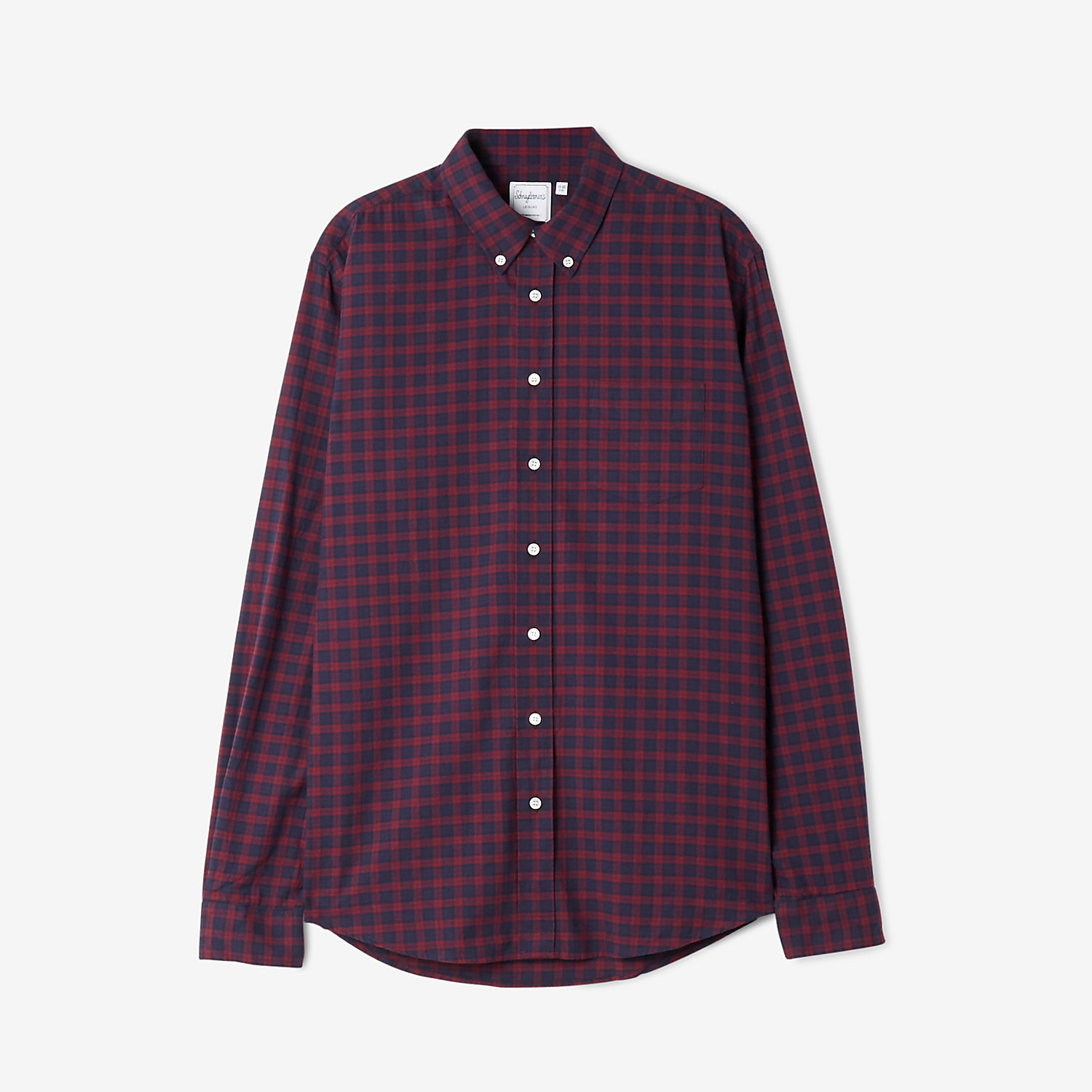 LEISURE HERRINGBONE CHECK SHIRT