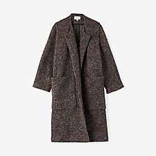 CHIARINA COLLARLESS KNIT COAT