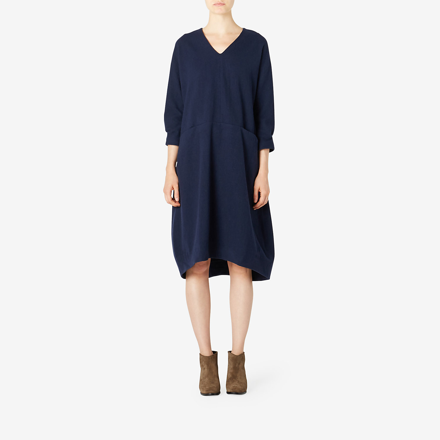 TAILOR BOILED WOOL TUNIC DRESS