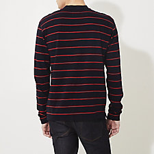 NAVY CRIMSON STRIPE