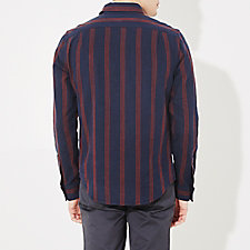 NAVY OXBLOOD STRIPE