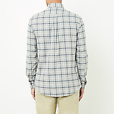 LIGHT GREY WHITE PLAID