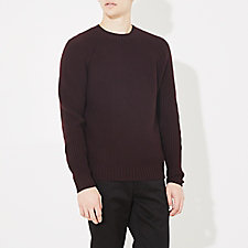 RAGLAN HEAVY CREW NECK SWEATER