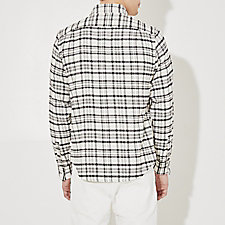 WHITE BLACK PLAID