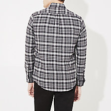 BLACK LIGHT GREY MELANGE PLAID