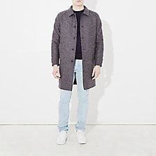 PRESSED WOOL RAGLAN COAT