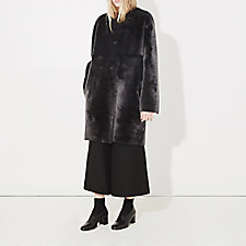 LANET REVERSIBLE SHEARLING COAT