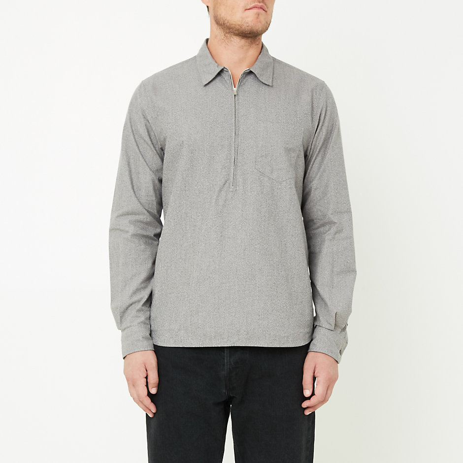 HANS ZIP MOULINÉ SHIRT