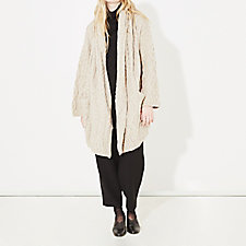 PATCHWORK CABLE COAT
