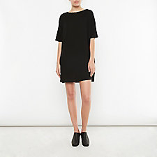 FRAYED NECK DRESS