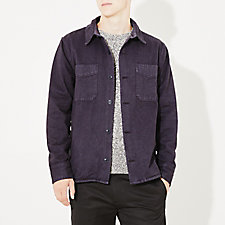 OVERDYED HERRINGBONE SHIRT JACKET