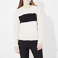 BOLD STRIPE CREWNECK SWEATER