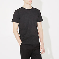 WOOL SILK SHORT SLEEVE CREWNECK