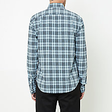 SOFT BLUE BLACK PLAID