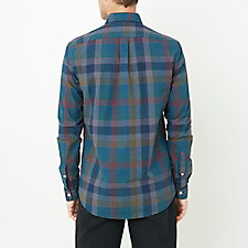 GREY CYAN MULTI PLAID