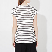 WHITE BLACK STRIPE