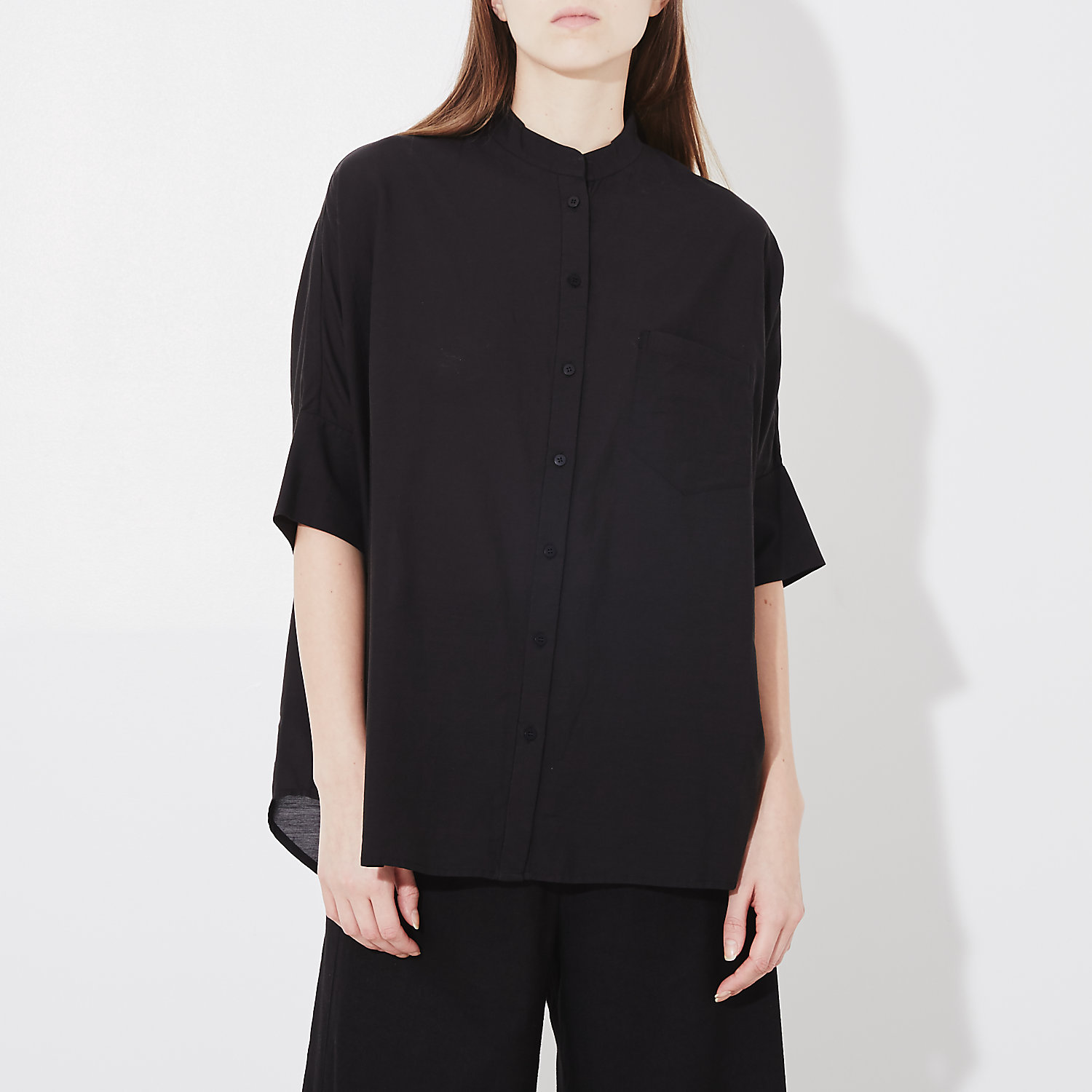 OVERSIZED STAND COLLAR SHIRT