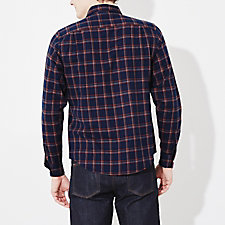INDIGO RED PLAID