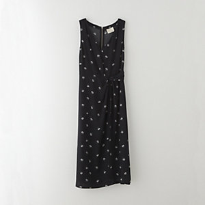 DAISY EMBROIDERED WRAP DRESS