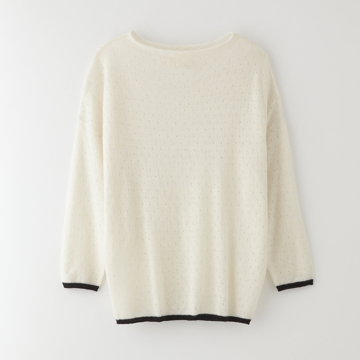 POINTELLE EASY SWEATER