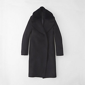 ERA LONG COAT W/ FUR COLLAR