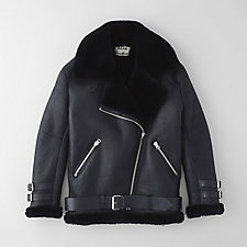 VELOCITE SHEARLING LINED MOTO JACKET