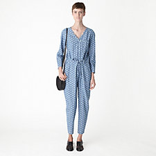 CROSSOVER DENIM JUMPSUIT