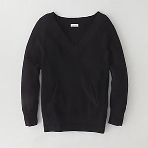 COMBO STITCH V-NECK SWEATER
