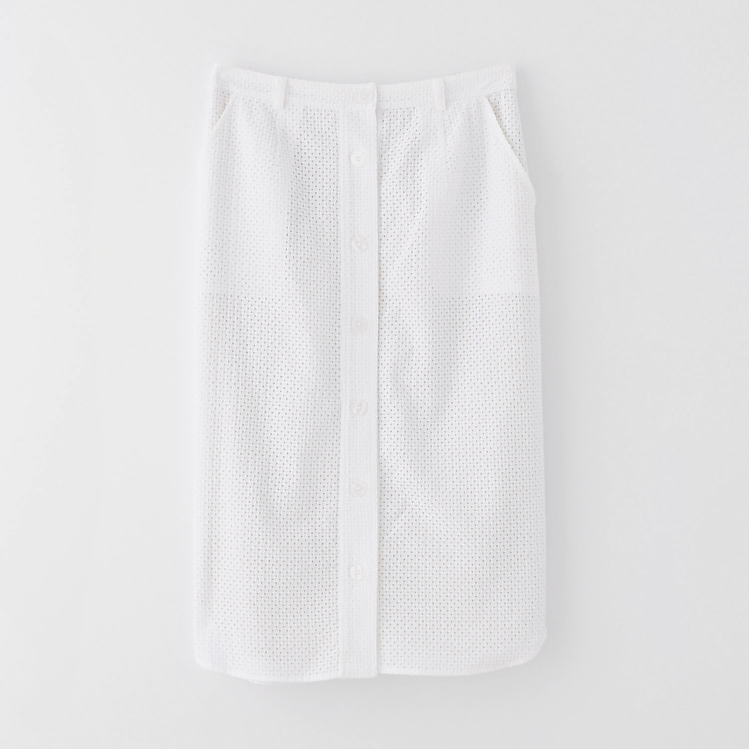 BUTTONDOWN EYELET SKIRT