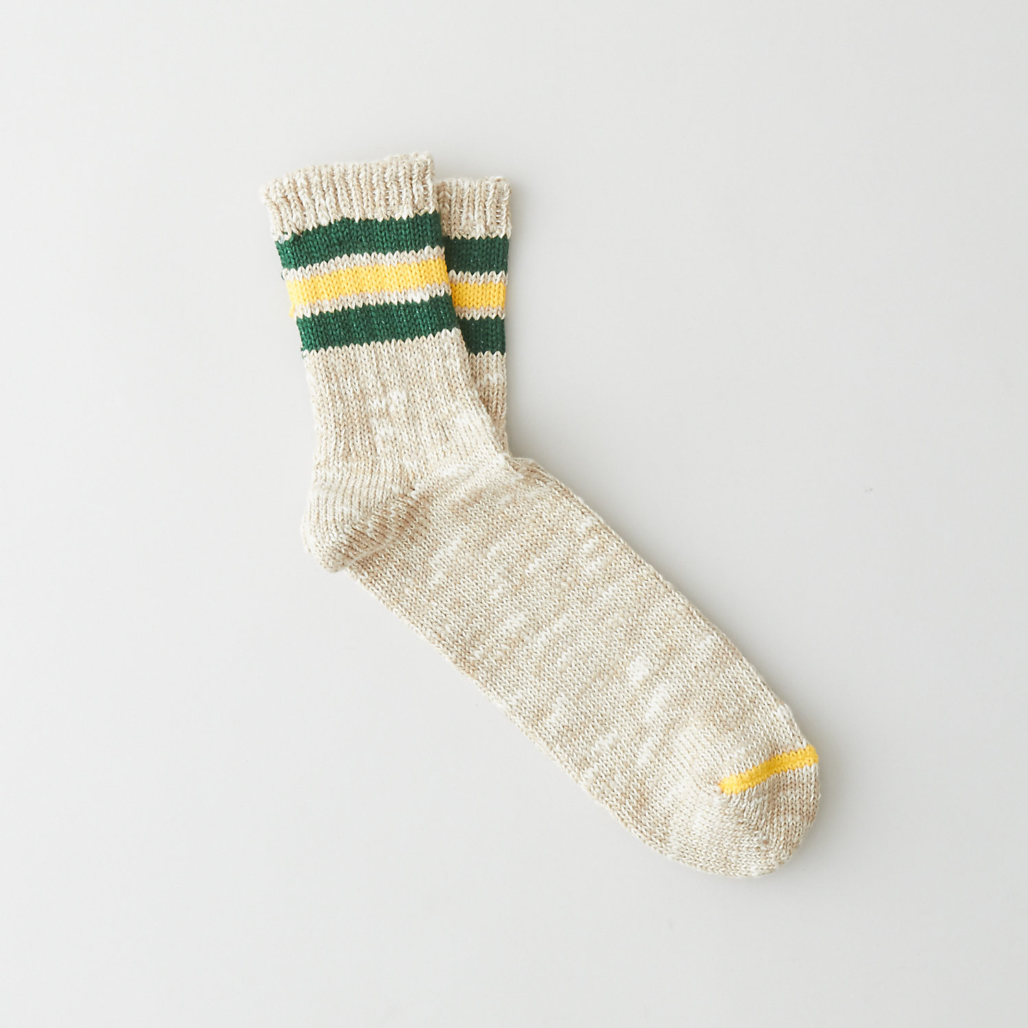3LINE SLUB QUARTER SOCK