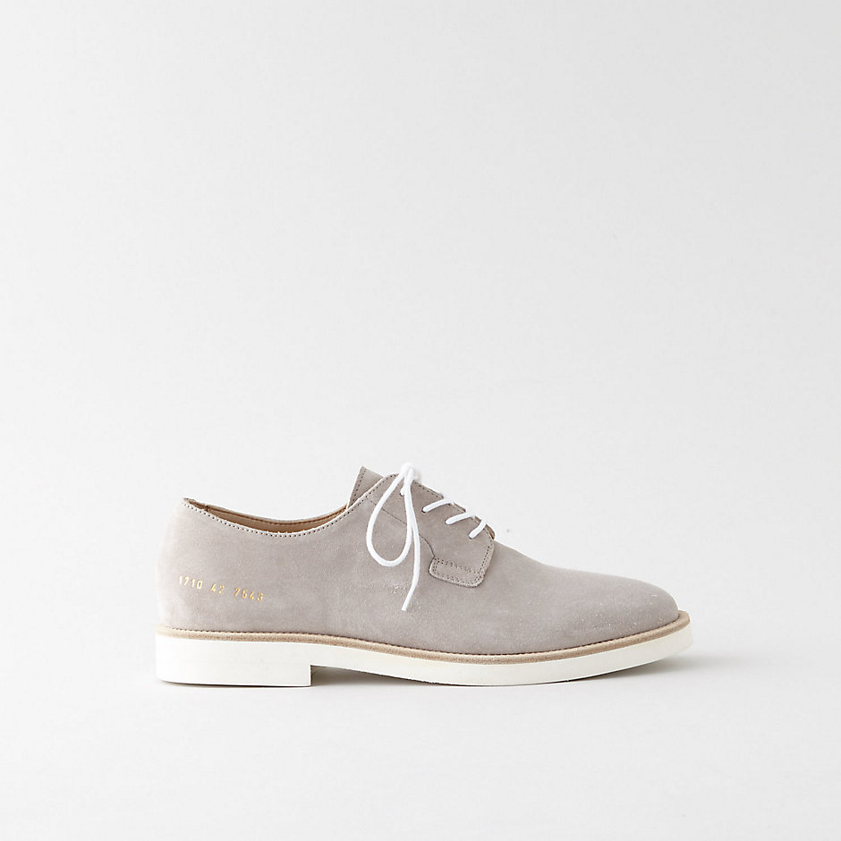 DERBY SUEDE SLIP ON SHOES