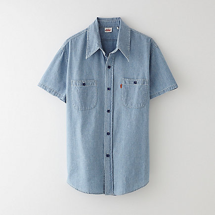 1960S CHAMBRAY CUT OFF SHIRT