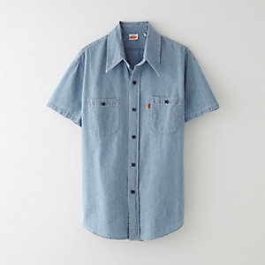 1960s CHAMBRAY SHIRT - ORANGE TAB