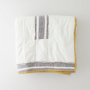 BLOCKS QUILT FULL/QUEEN - PEWTER