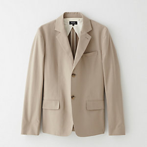 STRAIGHT CUT COTTON JACKET