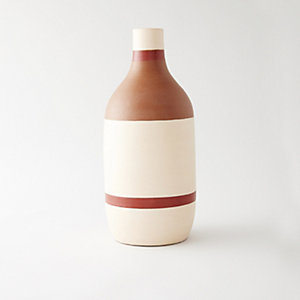 LARGE STRIPED VASE