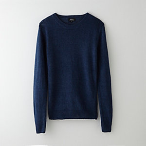 LINEN CREW NECK SWEATER