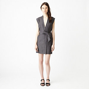 JILL LINEN SLEEVELESS DRESS