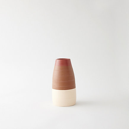 SHORT STRIPED VASE