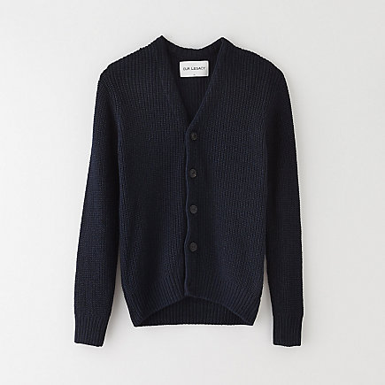 SINGLE CARDIGAN DARK INDIGO