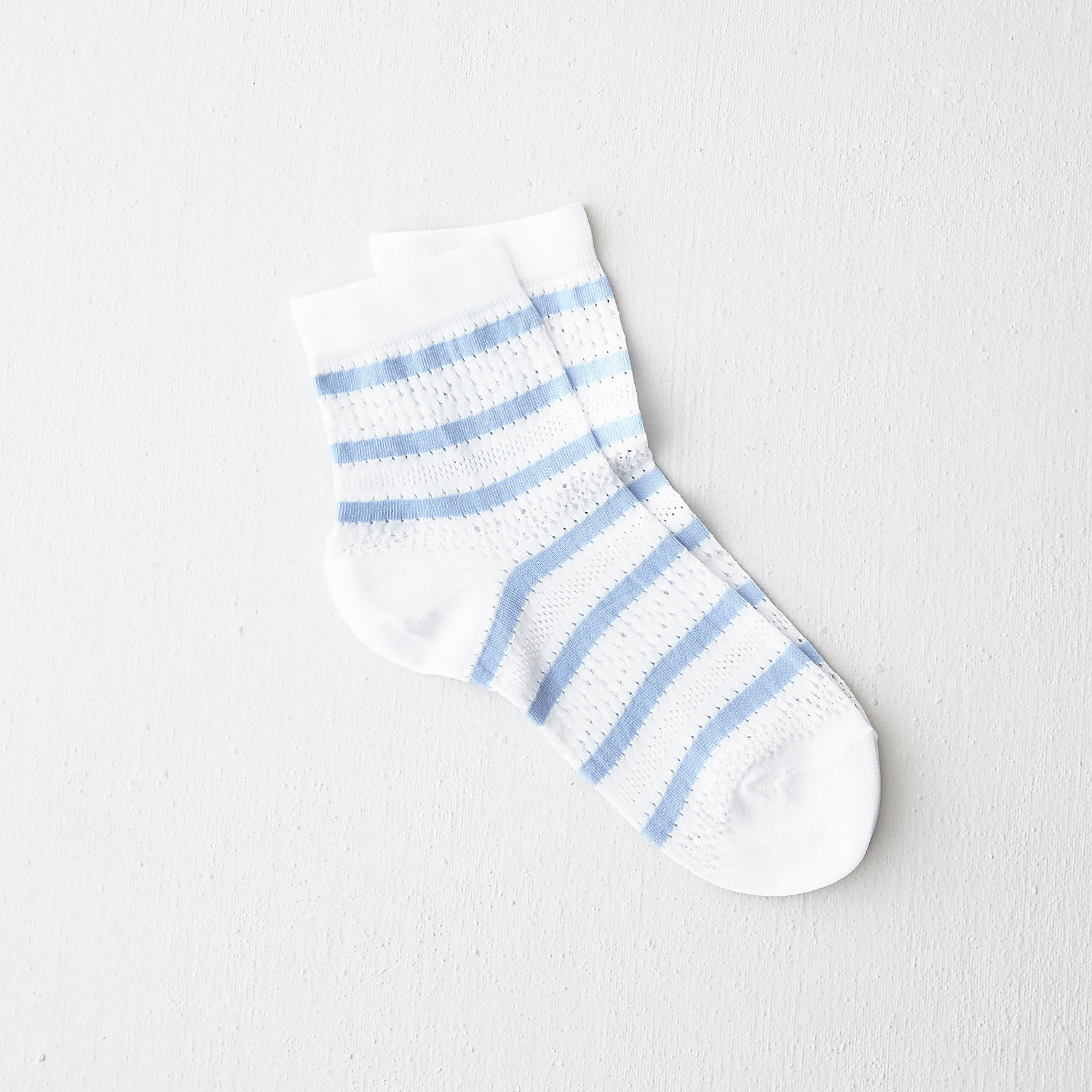 STRIPED LACE SOCK