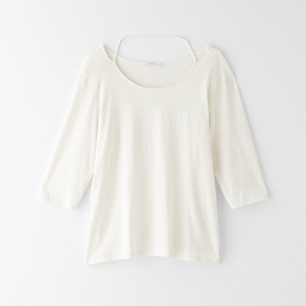 SLASH NECK TEE