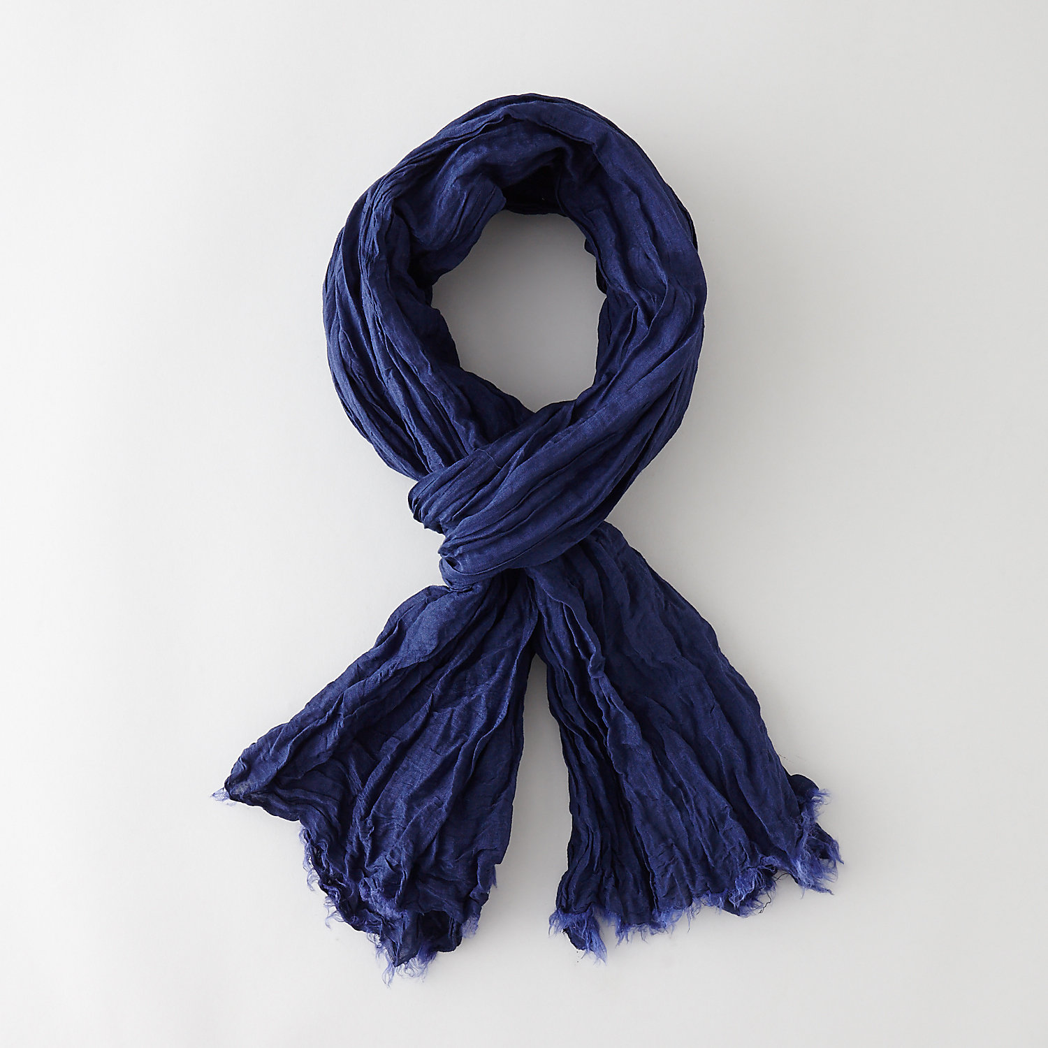 SILK COTTON CRINKLE SCARF