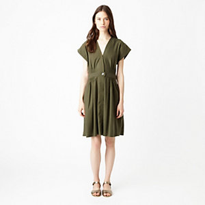 SILK NOIL WRAP DRESS