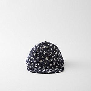LINEN FLORAL CAP