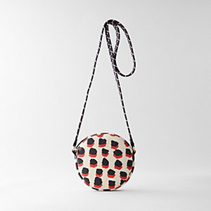 JULIE ROUND BAG NAVY RED SPOT